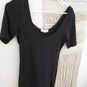 Dark Grey Mini Dress or Tunic- Large